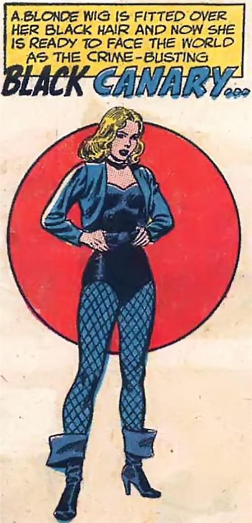Black Canary (DC Comics) (1960s) ready for action