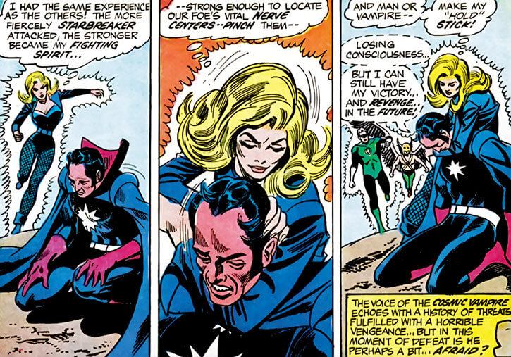 Black Canary (DC Comics) (1970s) vs Starbreaker Justice League