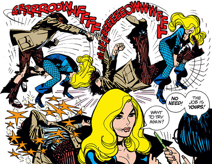 Black Canary (DC Comics) (1970s) Alex Toth fight hired