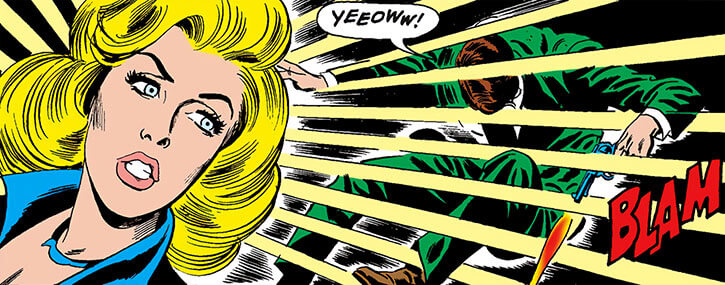Black Canary (DC Comics) (1970s) early shockwave power