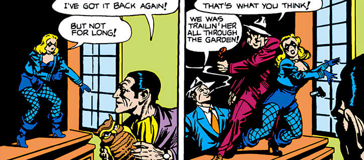 Black Canary (DC Comics) (Earliest version) attacked by mobsters