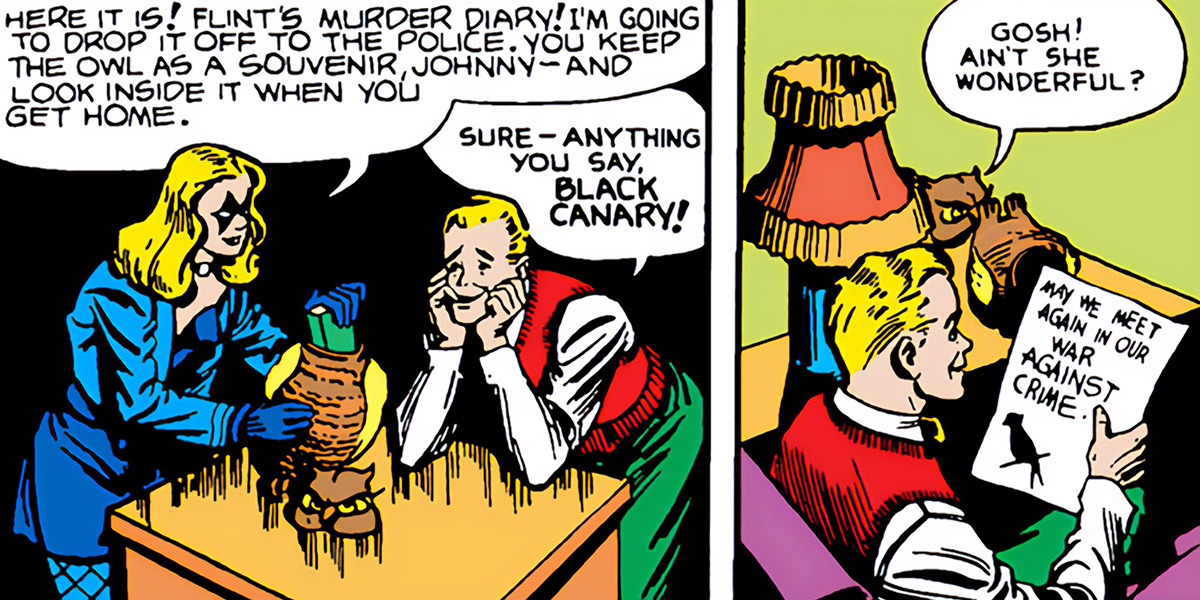 Black Canary (DC Comics) (Earliest version) and Johnny Thunder