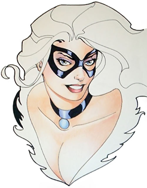 Black Cat (Spider-Man character) (Marvel Comics) portrait by Lopresti