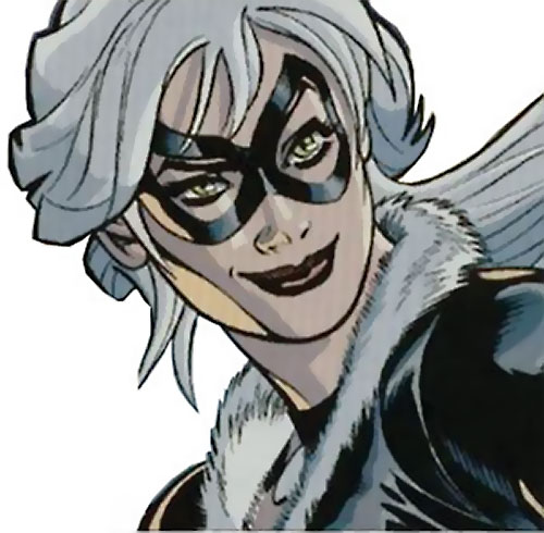 Black Cat (Spider-Man character) (Marvel Comics) smirking face closeup