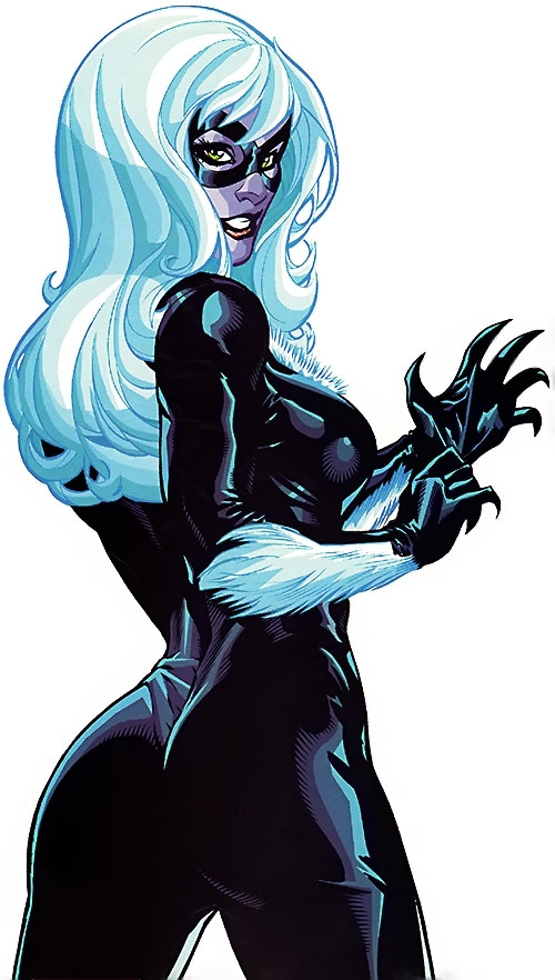 Black Cat (Spider-Man character) (Marvel Comics) blatant T&A shot