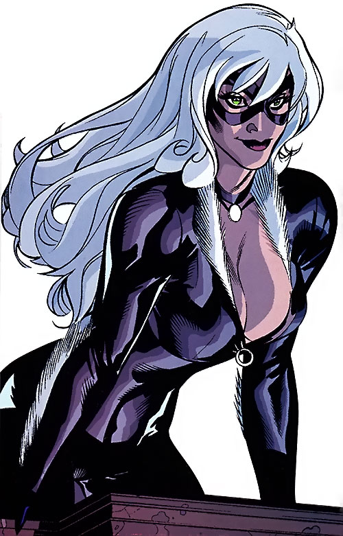 Black Cat (Spider-Man character) (Marvel Comics) with boobs out by Dodson