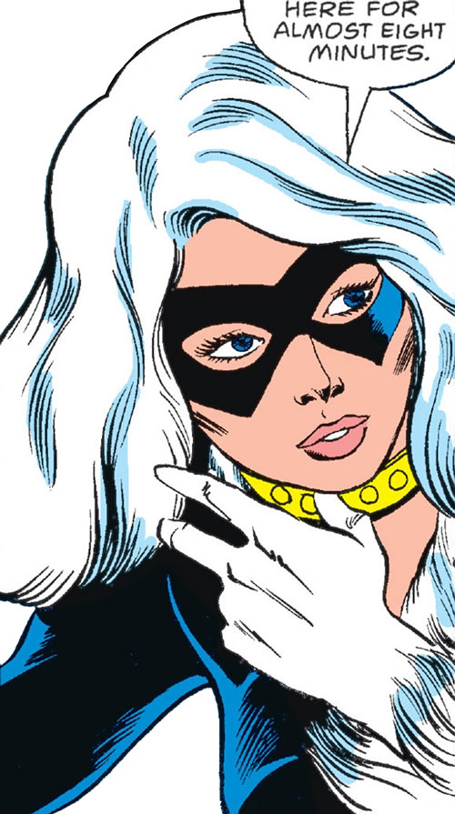 Black Cat (Marvel Comics) (Early) face closeup