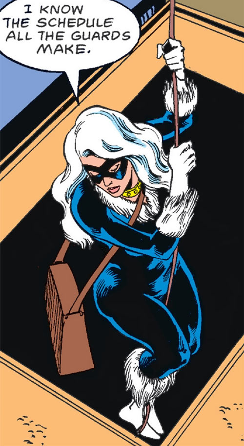 Black Cat (Marvel Comics) (Early) rappelling