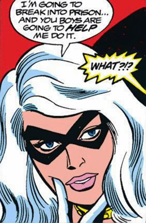 Black Cat (Marvel Comics) (Early) being coy