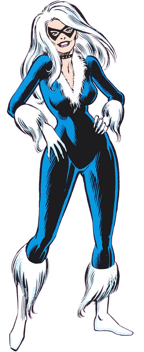Black Cat in the Official 1983 Marvel Comics Handbook