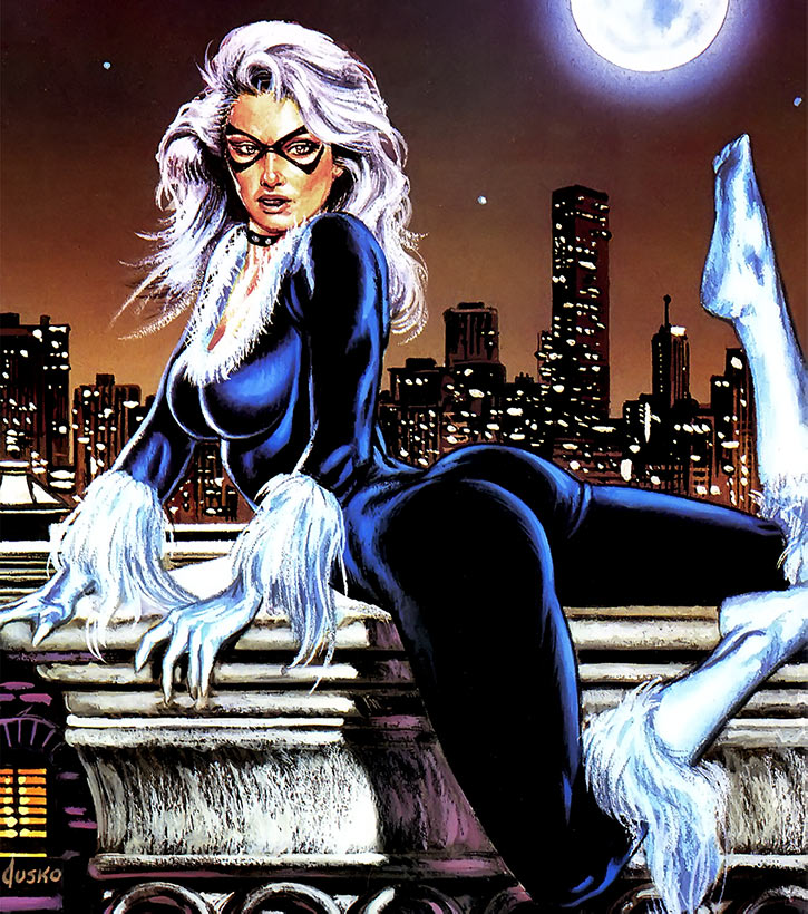 Black Cat (Spider-Man character) (Marvel Comics) Jusko masterpieces painting