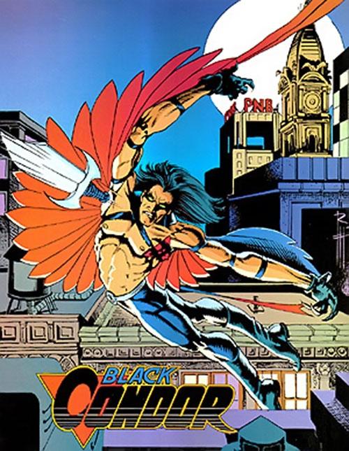Black Condor (Ryan Kendall) (DC Comics) throwing his knife