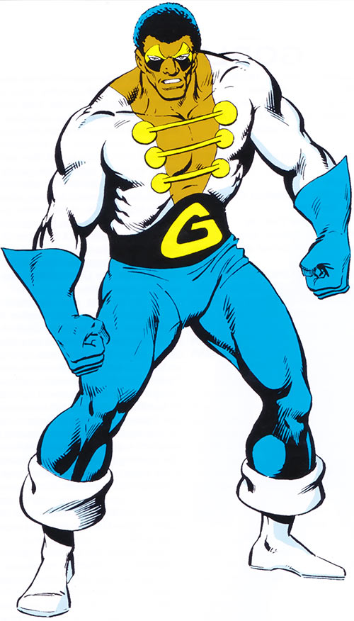 Black Goliath aka Giant-Man (Bill Fosters) (Marvel Comics) from the 1983 handbook