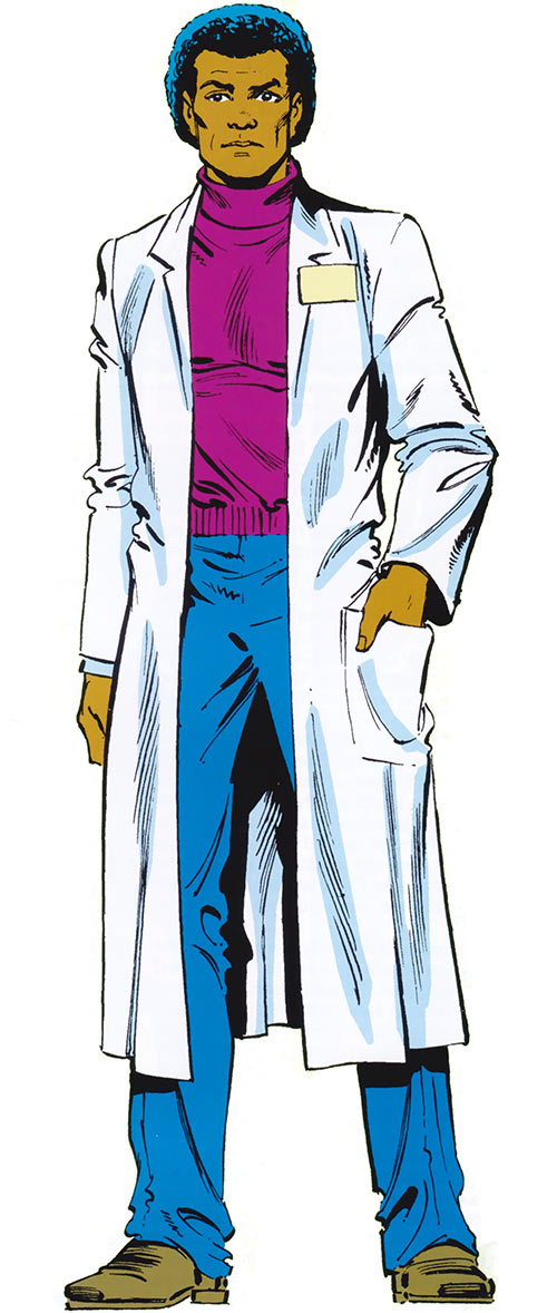 Black Goliath aka Giant-Man (Bill Foster) (Marvel Comics), with a lab coat