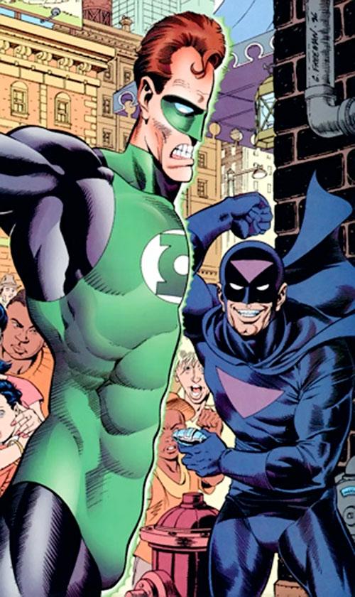 Black Hand splitting Green Lantern in two