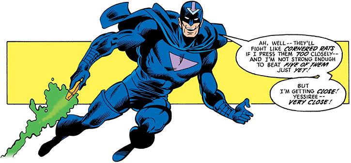 Black Hand (DC Comics) (Green Lantern villain) flying triumphant