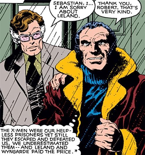 Black King Sebastian Shaw (Marvel Comics) (Hellfire Club) and Senator Kelly