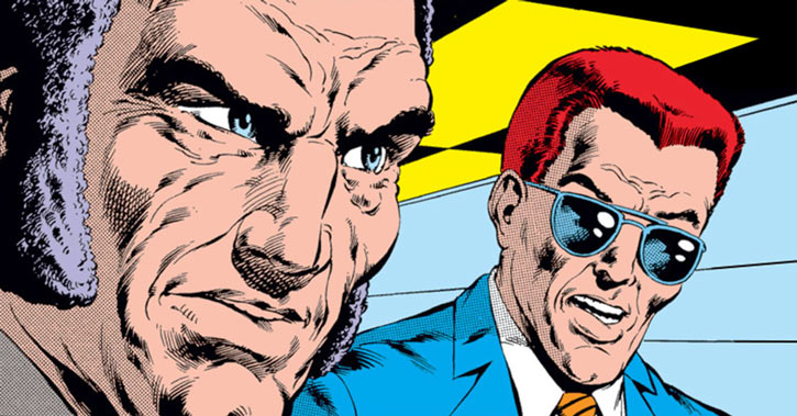 Black King Sebastian Shaw (Marvel Comics) (Hellfire Club) and Gyrich