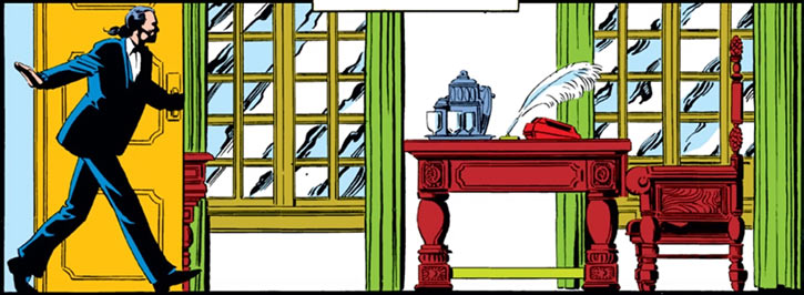 Black King Sebastian Shaw (Marvel Comics) (Hellfire Club) office