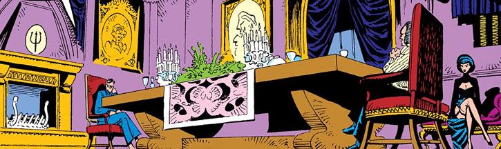 Black King Sebastian Shaw (Marvel Comics) (Hellfire Club) diner scene
