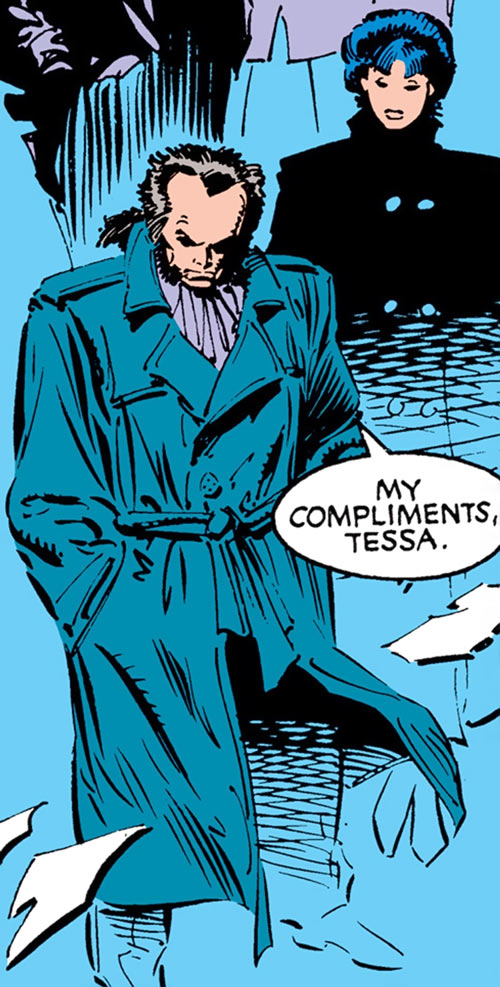 Black King Sebastian Shaw (Marvel Comics) (Hellfire Club) fog Tessa night