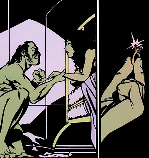 Black King Sebastian Shaw (Marvel Comics) (Hellfire Club) proposing