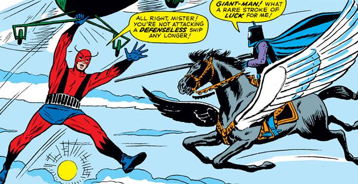 Black Knight (Nathan Garrett) vs. Giant-Man (Henry Pym)