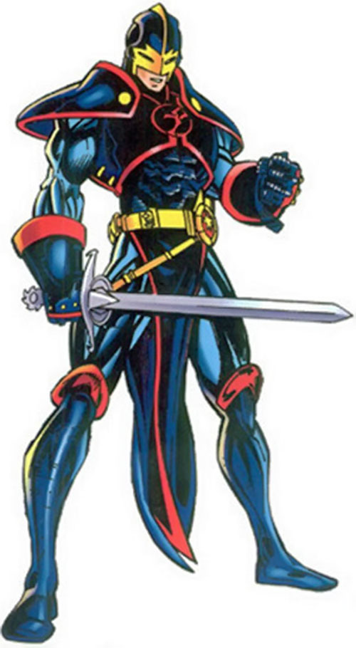 Black Knight of the Avengers (Dane Whitman) (Marvel Comics) with the Lady of the Lake equipment