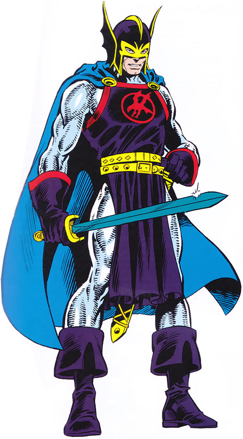 Black Knight of the Avengers (Dane Whitman) (Marvel Comics) from the handbook