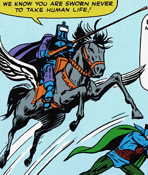 Black Knight (Nathan Garrett) on his winged horse
