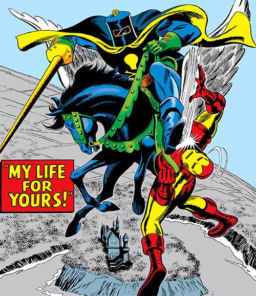 Black Knight (Nathan Garrett) vs. Iron Man