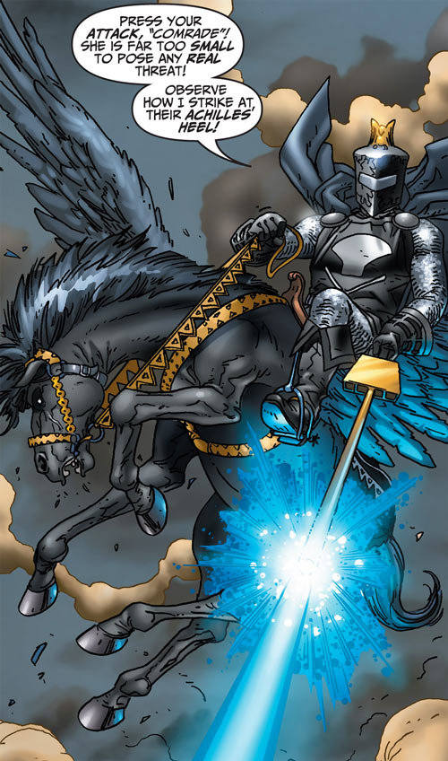 Black Knight (Marvel Comics) (Garrett) modern art shooting winged horse