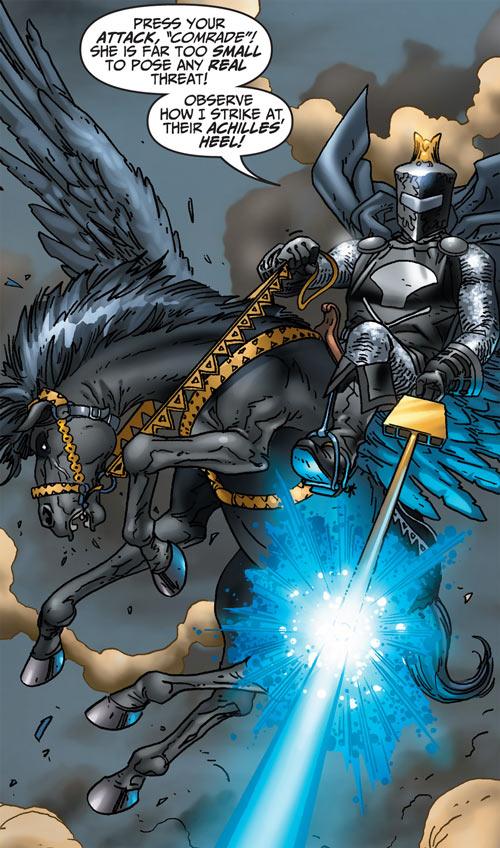 Black Knight (Marvel Comics) (Garrett) modern art shooting winged horse