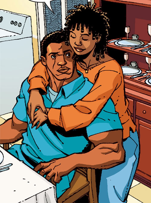 Black Lightning (DC Comics) with his wife Lynn