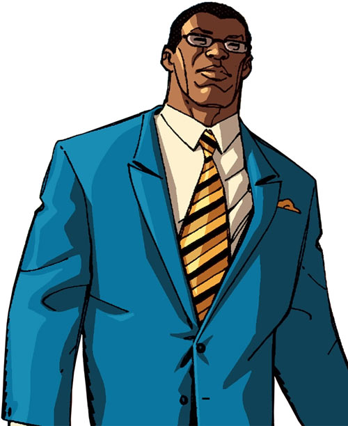 Black Lightning Year One (DC Comics) in a blue suit