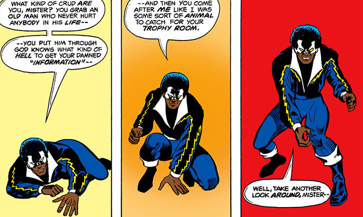 Black Lightning (DC Comics) (1970s original) rises dramatically