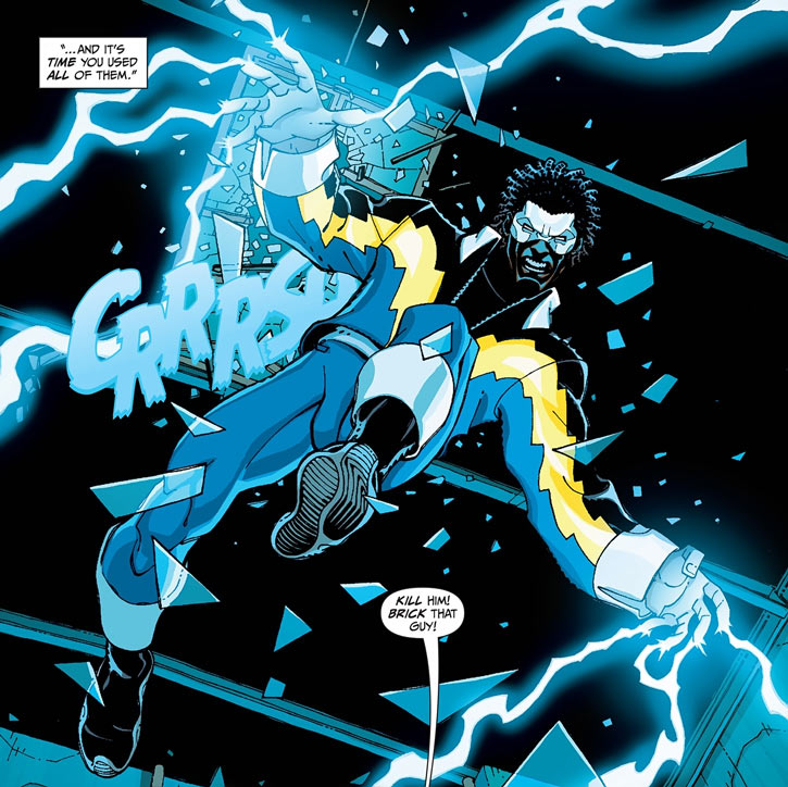 Black Lightning shooting lightning
