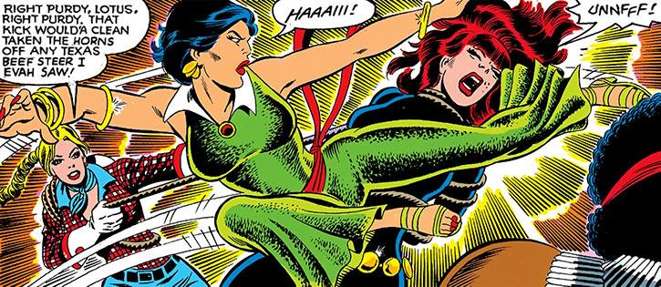 Black Lotus kicks the Black Widow