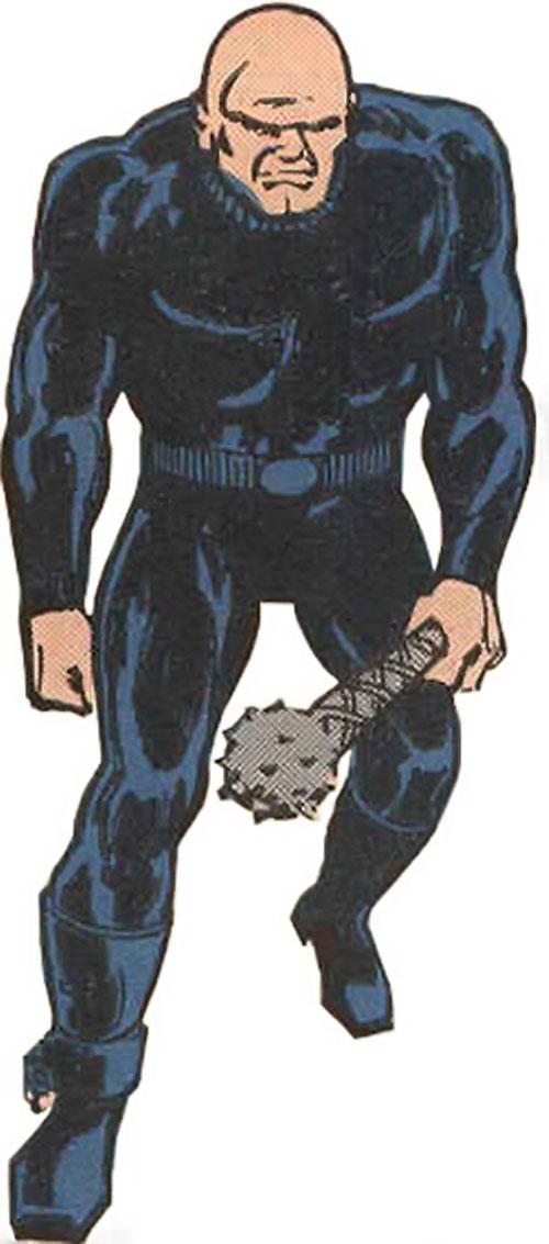 Black Mace (Legion of Super-Heroes enemy) limping