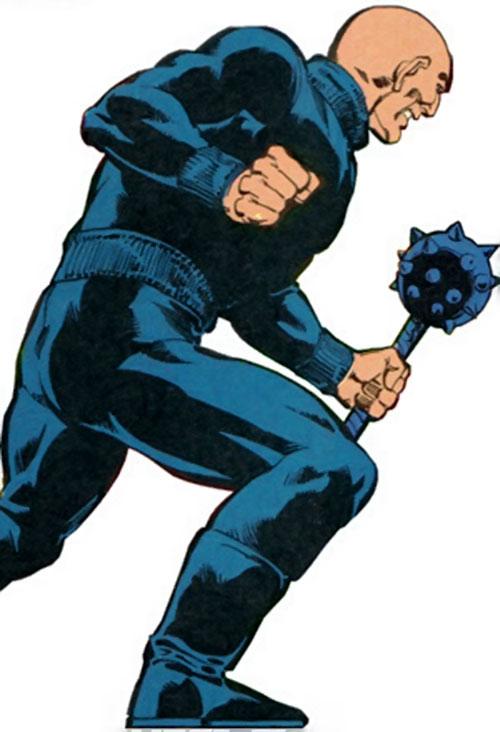 Black Mace (Legion of Super-Heroes enemy) side view