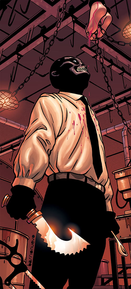 Black Mask (DC Comics) (Batman enemy) torture scene