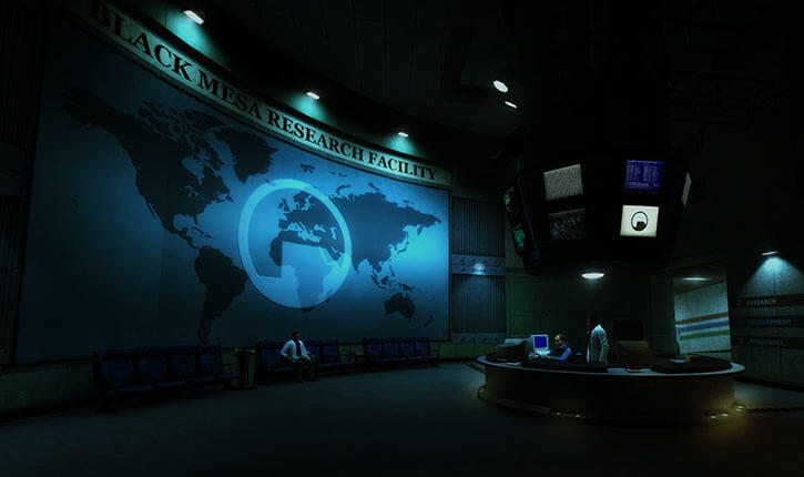 Black Mesa Anomalous Materials Lab - entrance lobby