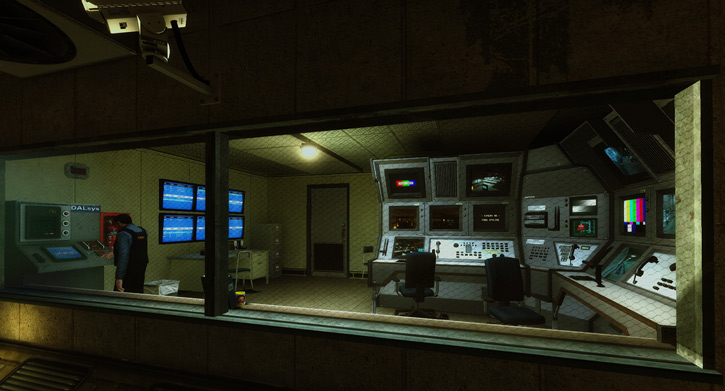 Security post in the Black Mesa complex