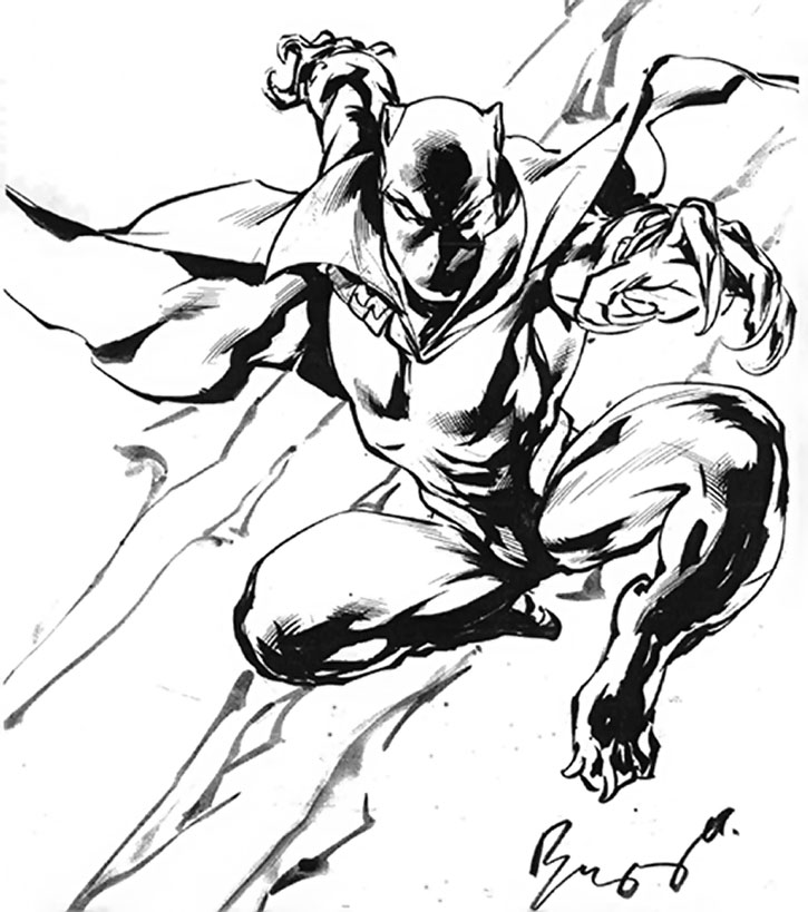 Black Panther (T'Challa) B&W drawing by Buzz