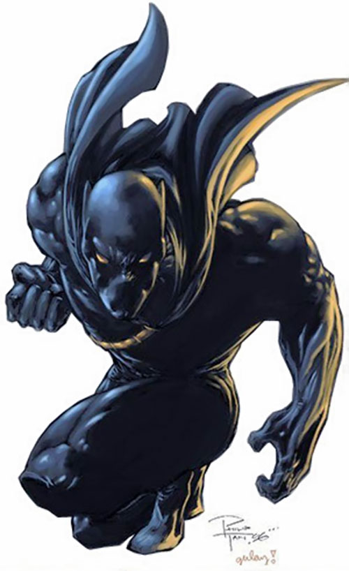 Black Panther (Marvel Comics) crouching