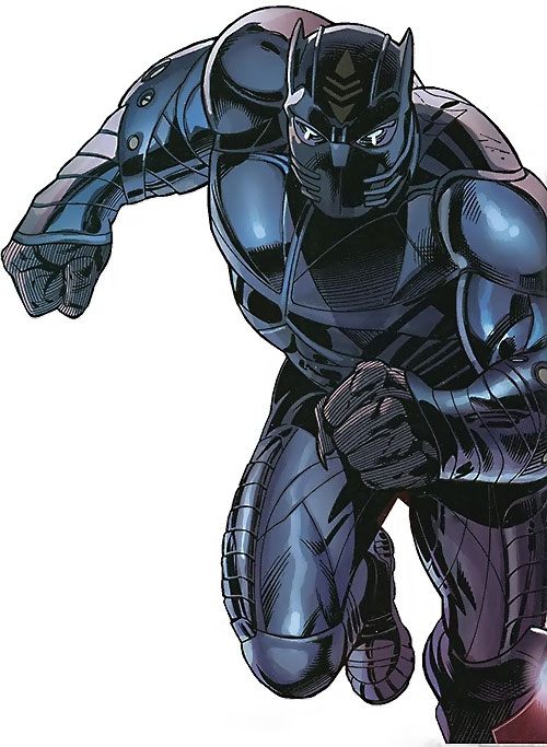 Black Panther (T'Challa by Hudlin) (Marvel Comics) with the armored costume