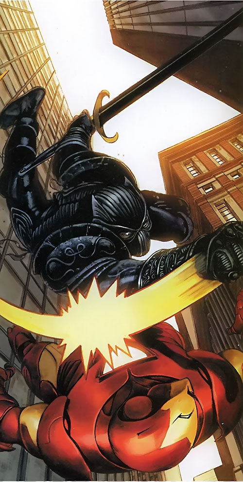 Black Panther (T'Challa by Hudlin) (Marvel Comics) vs. Iron Man