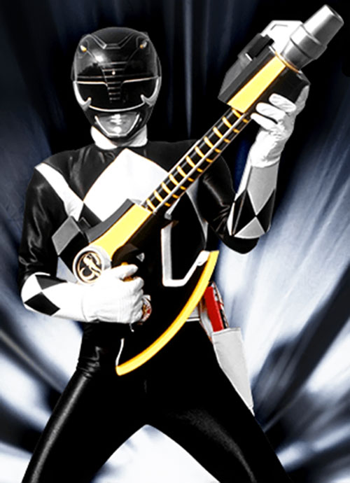 Black Ranger Zack Taylor (Walter Jones in Mighty Morphin Power Rangers) - axe in gun mode