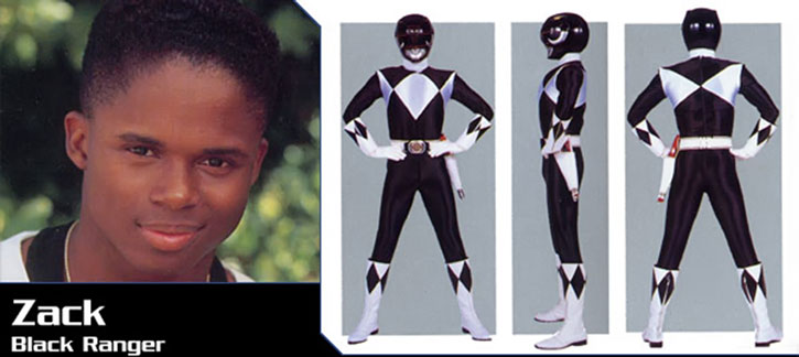 Black Ranger Zack Taylor (Walter Jones in Mighty Morphin Power Rangers) banner