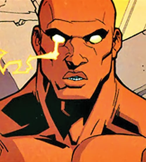 Black Samson of the Guardians of the Globe (Invincible Image comics) with lightning in his eyes